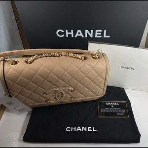 Chanel Medium Filigree Flap Bag Authentic